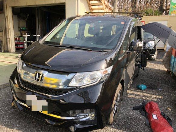 埼玉県所沢市にて ホンダ ステップワゴンのヘコミをデントリペアで修理