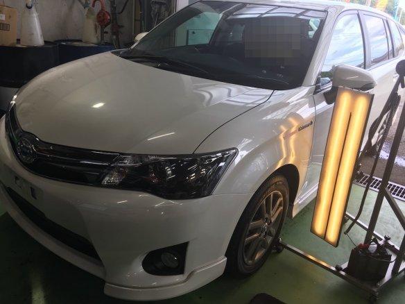 仙台市若林区にてトヨタ カローラフィールダーのへこみをデントリペアで修理