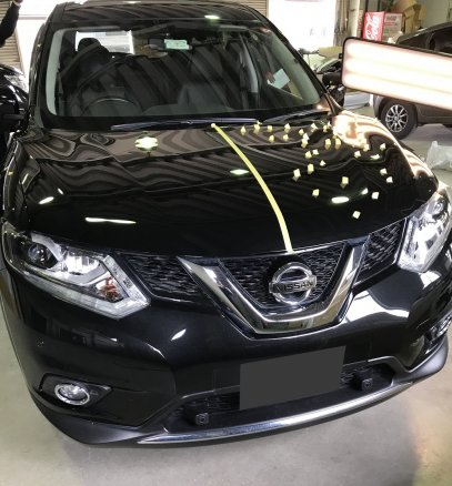 福島県福島市にて 日産・エクストレイルの雹害車両をデントリペア