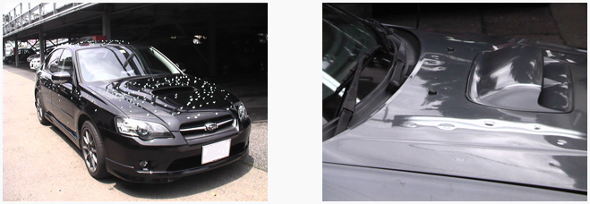 ひょう害車の修理